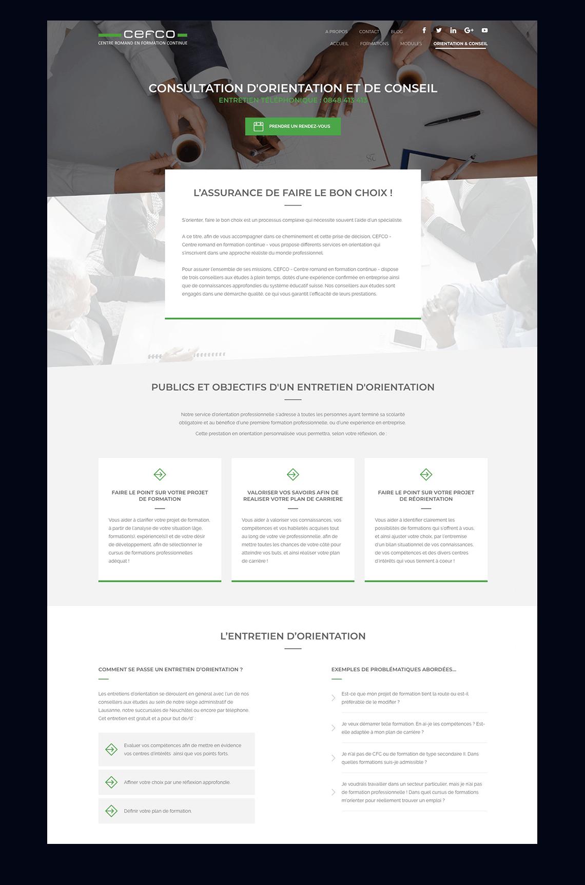 projet cefco site web