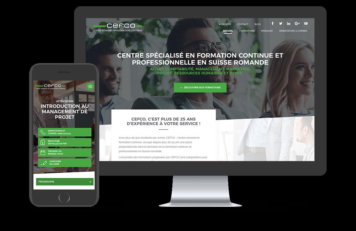projet cefco site responsive