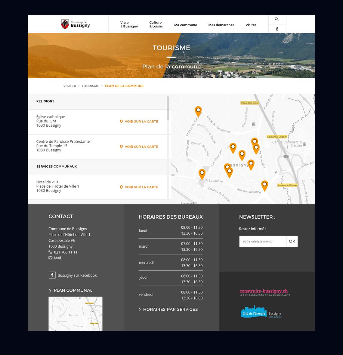 projet bussigny site web