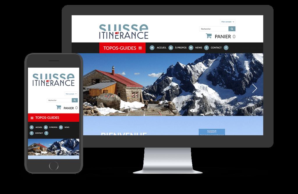 projet suisse itinerance site responsive, création site internet