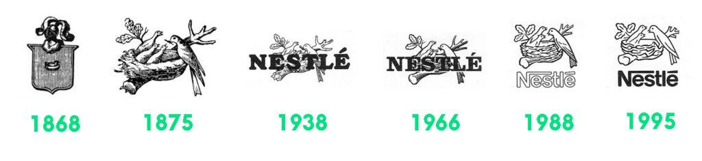 évolution logo nestlé